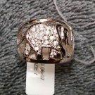 925 Sterling Silver Designer Heavy Elegant Elephant Cz Statement Ring Size 7