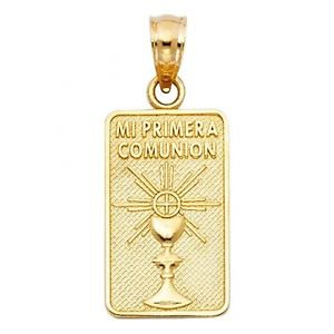 114k Mi Pimera Comunion Cross Religious Charm Pendant