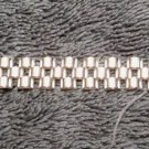 925 Sterling Silver Designer Highly Polished Domed Style Bracelet 8.5 Inches