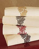 New Folia Pillowcases Wheat Embroidery