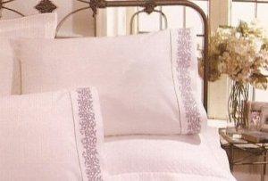 New White Sferra Petite Fleur Emboidered Pillowcases-Standard