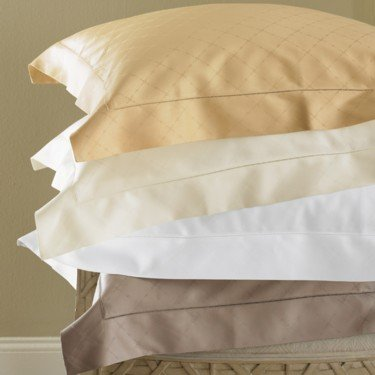 New Sferra Colete 1020 Thread Count  Pillowcase-Stand-Ivory