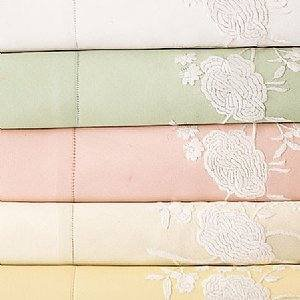 Sferra Ava Emboridered Pillow Sham-Pink-Boudoir-NIP