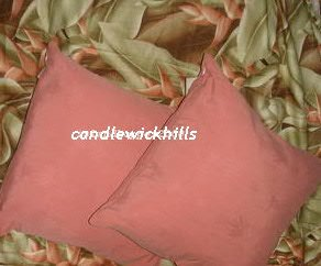 2 New Tommy Bahama 100% Silk Pillows-Coral