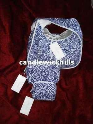 Pratesi Small Clutch Bag-Blue/White-New
