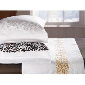 New Sferra Saxon Pillowcases-Honey-Standard