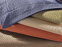 New Sferra Ella Matelasse Pillow Shams-Standard-Brown