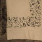 NIP Sferra Flores Embroidered Pillow Shams-Standard-Wheat/Chocolate