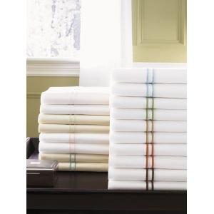 New Sferra Grande Hotel King Pillowcases-White/Chocolate