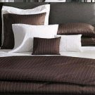 NIP Sferra Kelly Hoppen Sham-Standard-Chalk Stripe-Chocolate