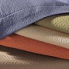 Sferra Ella Egyptian Euro Luxury Bedding Pillow Sham-Almond