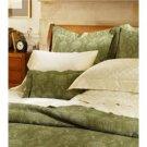 Sferra Ascot Matelasse Pillow Shamt-Green-Standard