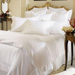 New Sferra Giza 45 Sateen  Luxury Bedding Sham-White-Boudoir