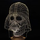 3D Star Wars Darth Vader LED Wood Mood Table Lamp Bulbing Light Home Decor Gift