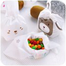 100Pcs/lot Rabbit Cookie Packaging Plastic Bags Baked Food Biscuit Candy Snacks Festival Gift Bags