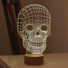 3D Wood Mood Lamp Building Light Skull Micro USB Table Lamp Home Lighting