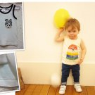 80-150cm authentic quality Seamless Baby's Top Vest Child's T-Shirt Kid's Boy's white Clothes
