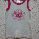 New Baby kids girl's Alive cotton sleeveless tops butterfly quality clothing