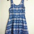 Women's fashion Casual 100% Cotton Denim backless Asymmetrical Hem dress gift