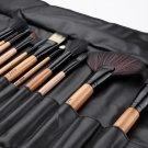 24pcs(Wood) Cosmetics Makeup Brushes Beauty MakeUp Tool Set Foundation Powder Brush Kit With Bag