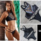 Women's Sexy Vintage Swimwear Bikini set Bohemia beach Swimsuit bathing suit gift
