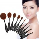 10PC/Set thoothbrush Eyebrow Foundation Power Face Eyeliner Lip Oval Cream Puff Brushes Makeup Tools