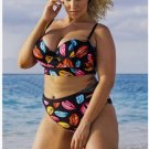 Womens Sexy floral Push up beachwear plus size Swimsuit Bathing Suits Swimwear bikini set