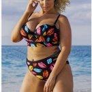 Womens Sexy floral Push up beachwear plus size Swimsuit Bathing Suits Swimwear bikini set