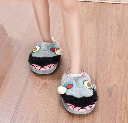 Unisex Zombie Plush Slippers Men Womens cosplay Footwear Halloween Shoes Fit EUR 37-42 US 6.5-10