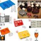 6pcs/Set Star Wars Ice Tray Silicone Cube Mold Desert Sphere Mould whiskey Ball Gift Kitchen tool