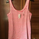 3 Colors Women's quality cotton striped tops tanks sport wear clothing Size M,L Plus size
