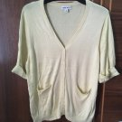 High quality Cotton solid light yellow cardigans pullovers sweaters gift
