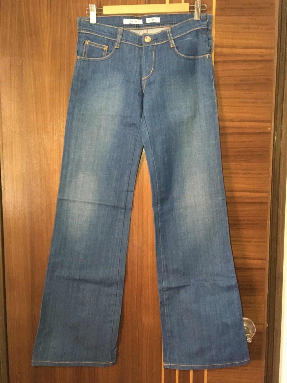 Women's fashion quality slim denim jeans casual deep blue trousers pants Size 28