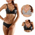 4 colors women's girl's Sexy Bra Sets Lingerie Underwear Push-Up Padded Cotton Glossy Bras