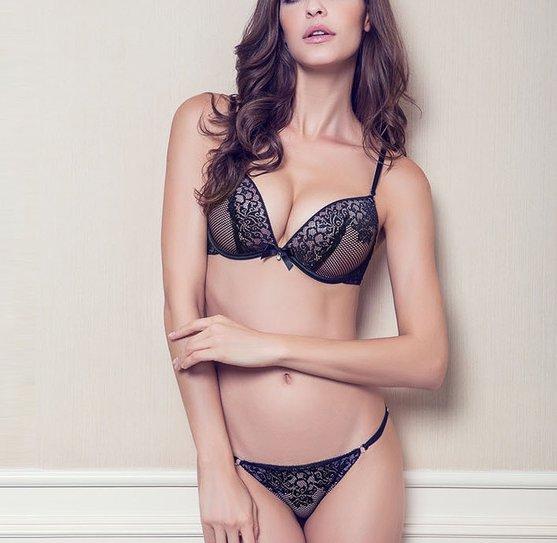 Women's Sexy lace Bra Set Lingerie Underwear plus size Push-Up Padded sleepwear