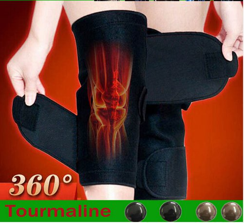 1 Pair Tourmaline selfheating kneepad Band Magnetic Therapy knee support Belt Massager