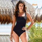 Women's sexy Sport soild dot jumpsuit one piece bikini swimwear plus size S-4XL