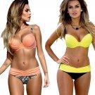 5 Colors women's Push Up Bikini Set Swimwear Beachwear Bathsuit XS S M L XL