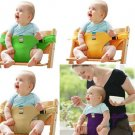 Portable Seat Dining Lunch Chair Seat Safety Belt Stretch Wrap Feeding Chair belt