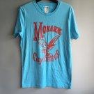 New men's fashion Sky Blue Men T-shirt DENIM cotton Letters print basic Tees gift