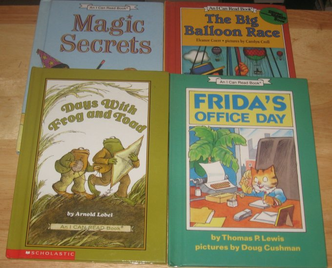 4 Book Lot of Hardcover I CAN READ BOOKS