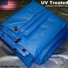 30x30 Super  Blue Super Duty Tarps - Made in USA 30'x30' UV Hay Tarp