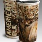 American Elk 12oz. Double-Walled Graphic Art Ceramic Travel Mug