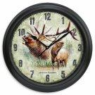 """Portrait Series 11.5"""" American Elk Wall Clock"""