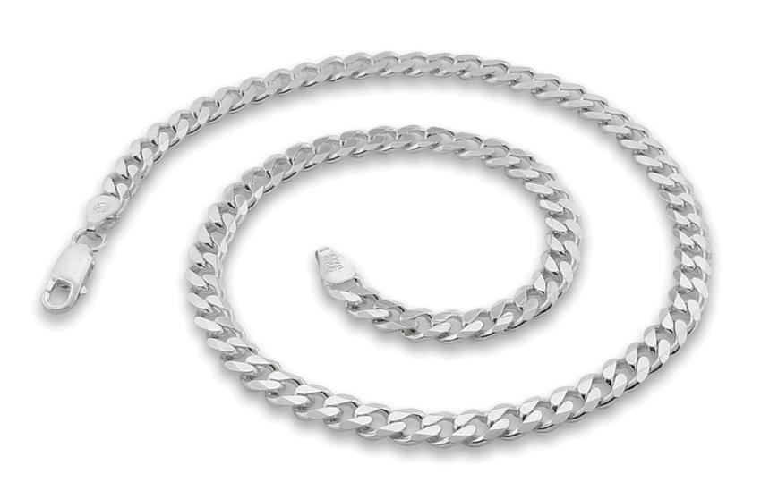 "5.6mm 16"" Sterling Silver Curb Chain"