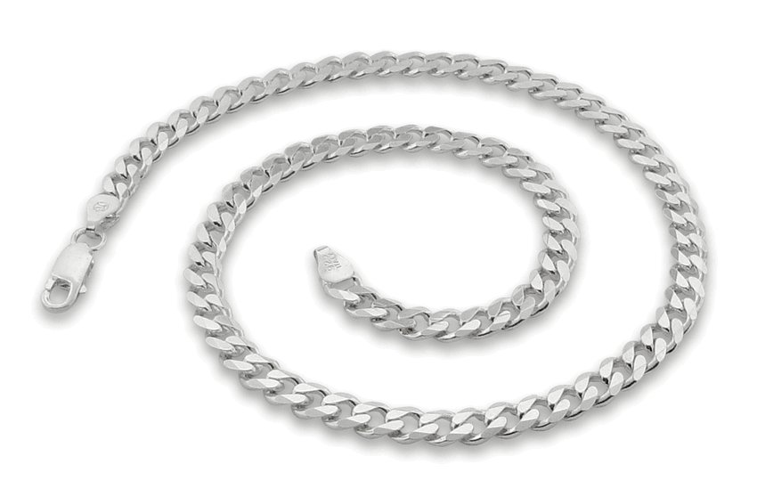 """5.6mm 30"""" Sterling Silver Curb Chain"""