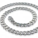 "9.5mm 24"" Sterling Silver Curb Chain"