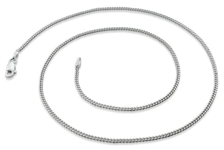 """1.8mm 22"""" Sterling Silver Curb Chain"""
