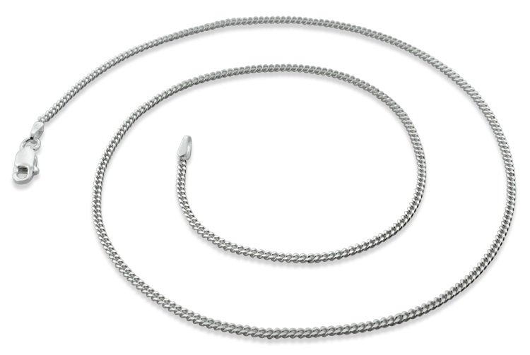 "1.8mm 30"" Sterling Silver Curb Chain"