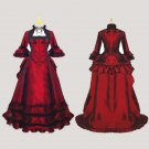 Elegant ROCOCO Punk gothic red victorian dress